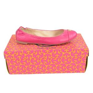 Tory Burch  Carnation Red Reva Flats